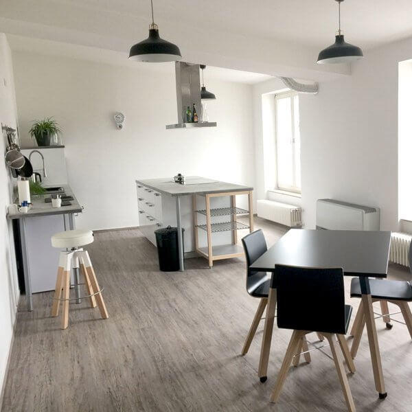 Kitchen with workshop room in Duesseldorf