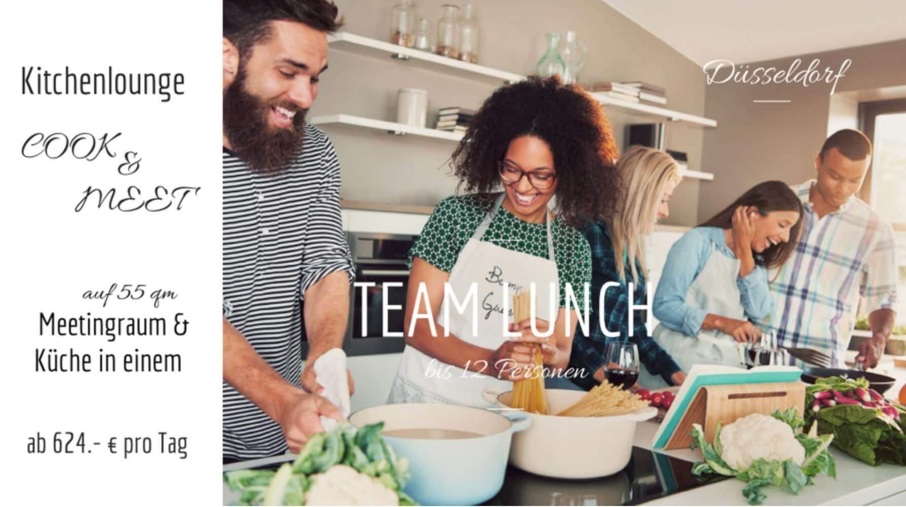 Seminar und Küchen gemeinsam kochen Teambuilding mieten in Düsseldorf