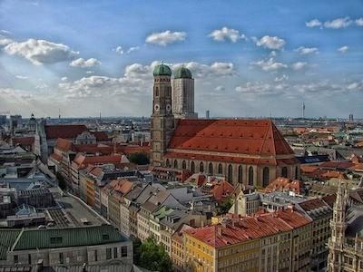 Luftbild München Innenstadt, Kultur, Gastronomie für Tagungen und Events
