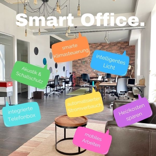 kreative Objekteinrichtung office Büro allynet